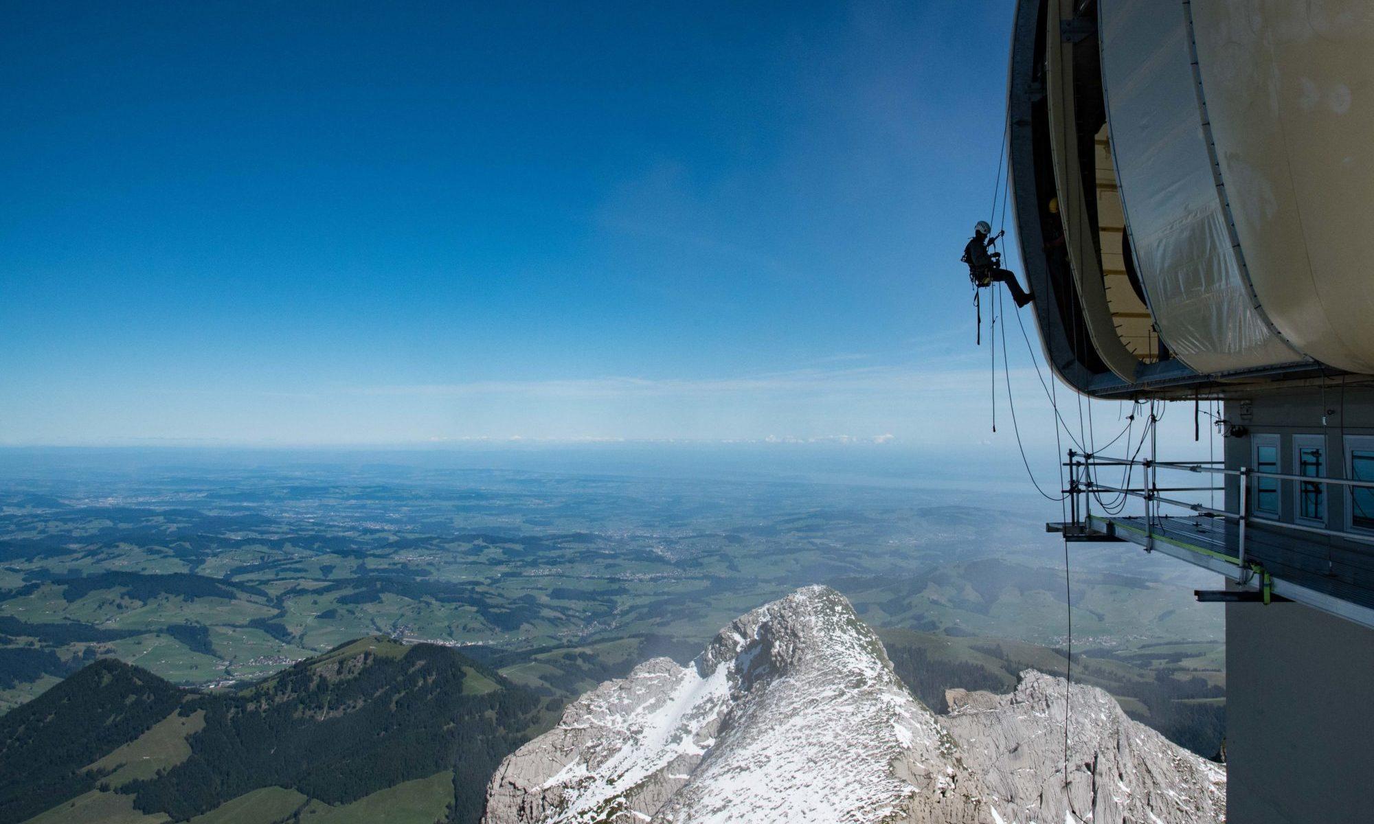 Seilarbeiten am Säntis, Appenzell